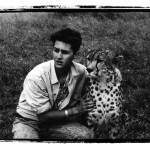 Dan Eldon with Cheetah.